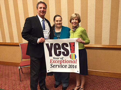 "Westbank Dry Cleaning wins ""YES"" award for exceptional customer service 2014"